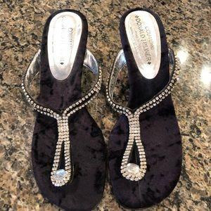 Donald Pliner Rhinestone Sandals